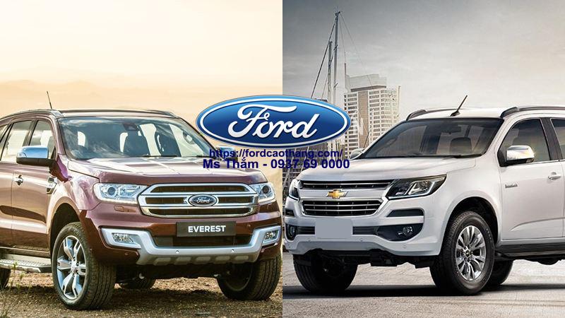 Ford Everest 2019 và Chevroler Traiblazer 2019 bên tám lạng kẻ nửa cân