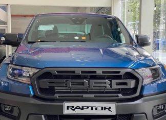 Ford Ranger Raptor 2020 xanh