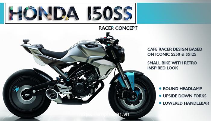 Honda 150ss Racer hong xe
