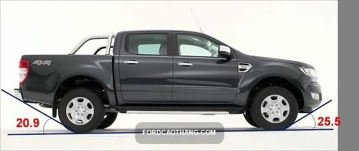 kích thước xe bán tải ford ranger