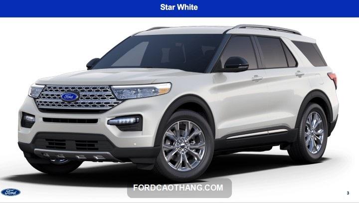 Ford Explorer 2022 mau trang
