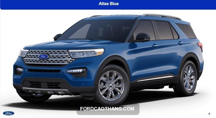 Ford Explorer 2022 mau xanh Atlas
